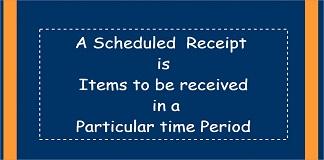 scheduled receipts
