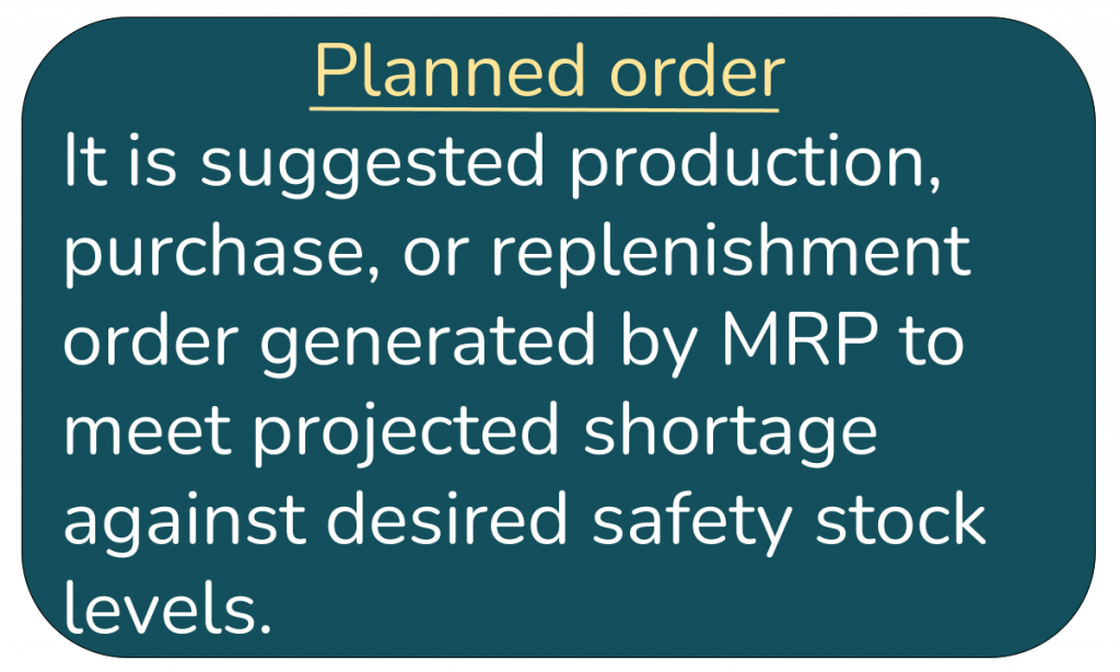 Planned Order