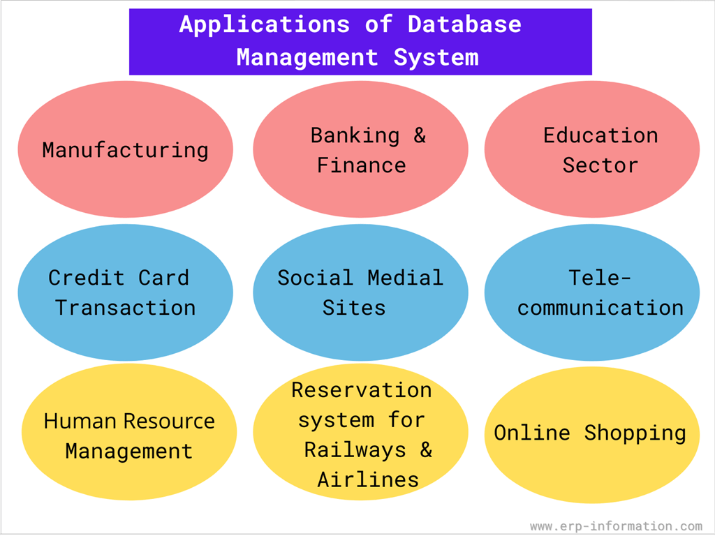 Applications of DBMS in different sectors