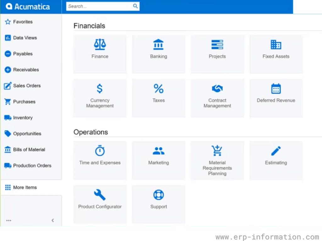 Acumatica Modules