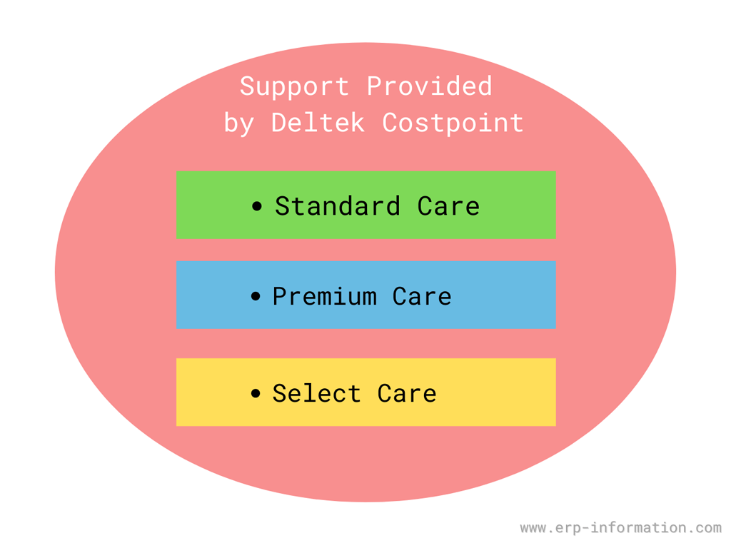 Type of support provided by Deltek Costpoint.